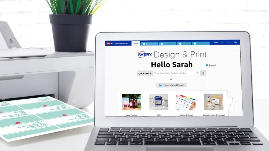 Avery Design and Print software