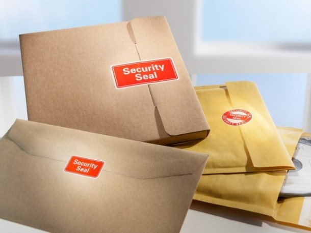 Avery seal labels - protect your parcels and documents with VOID security text