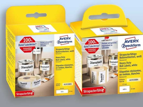 Avery Industry and outdoor labels for label printers