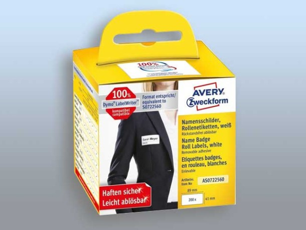 Avery Name tags for label printers