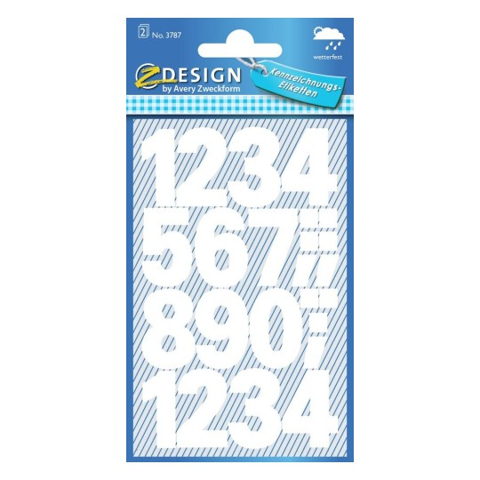 Labels with numbers 3787